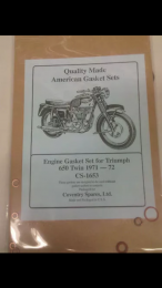 Complete Gasket Kit 71-72 for Triumph *Includes Copper Washer*