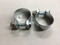 """Muffler Clamps 750 500 with Hardware 1 3/8"""" for Triumph *Authentic UK*"""