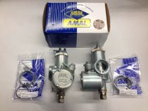 "T120TT Amal monobloc 389 carb set carburetor set right-left 1 3/16"" bore Triumph T120 TT"